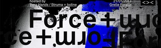 FORCE & FORM hosted by Bare Hands / Struma + Iodine am 21.01.2017 @ Wohnzimmer