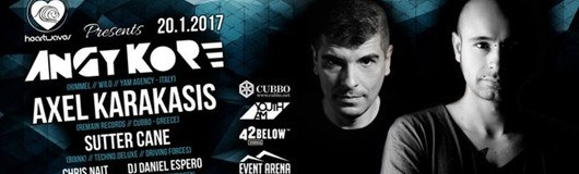 AnGy KoRe & Axel Karakasis presented by heartwaves am 20.01.2017 @ Event Arena Vösendorf
