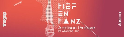 Tiefentanz ▲ Addison Groove (50 Weapons, UK) am 13.01.2017 @ Das Werk