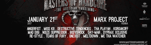 Masters of Hardcore - The Austrian Awakening am 21.01.2017 @ Marx Halle