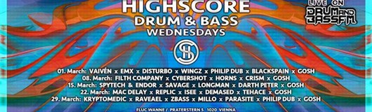 Highscore x D&B x Wednesdays am 29.03.2017 @ Fluc Wanne