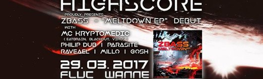 "Zbass - ""Meltdown EP"" debut w/ Mc Kryptomedic & many others am 29.03.2017 @ Fluc Wanne"