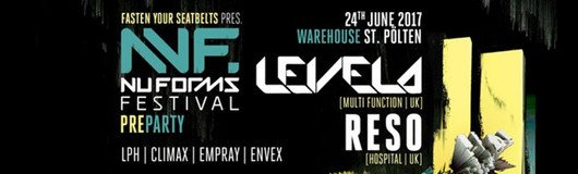 Nu Forms Preparty w/ Levela & Reso am 24.06.2017 @ Warehouse