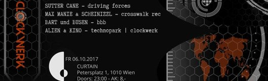 ClockWerk– Opening Party am 06.10.2017 @ Curtain
