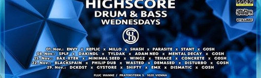 Highscore x Drum&Bass am 15.11.2017 @ Fluc Wanne