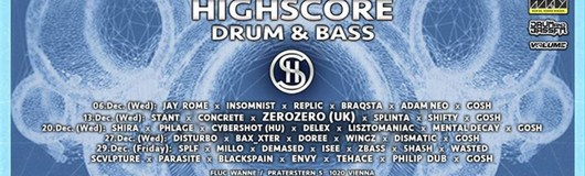 Highscore x Drum&Bass am 13.12.2017 @ Fluc Wanne