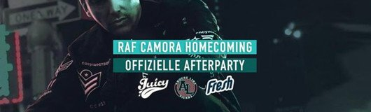 Raf Camora Homecoming Afterparty powered by Juicy & Andere Liga am 16.02.2018 @ Passage