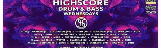 Highscore x Drum&Bass am 19.09.2018 @ Fluc + Fluc Wanne