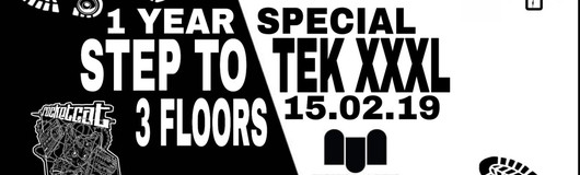 Step To Tek XXXL / 1 Year Special / 3 Floors am 15.02.2019 @ The Loft