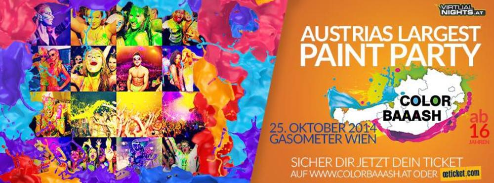 COLOR BAAASH WIEN - Austrias largest Paint Party am 25.10.2014 @ Gasometer - Planet