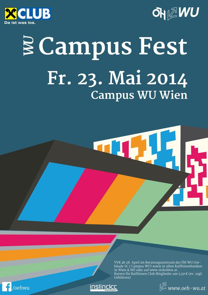 WU Campus Fest am 23.05.2014 @ WU Campus