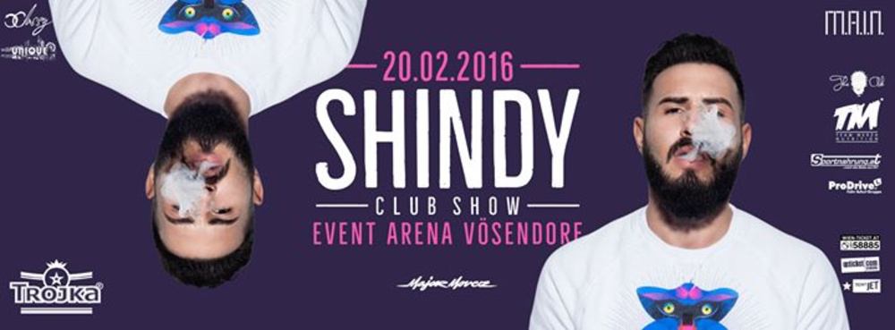 SHINDY LIVE // CLUBSHOW //  am 20.02.2016 @ Event Arena Vösendorf