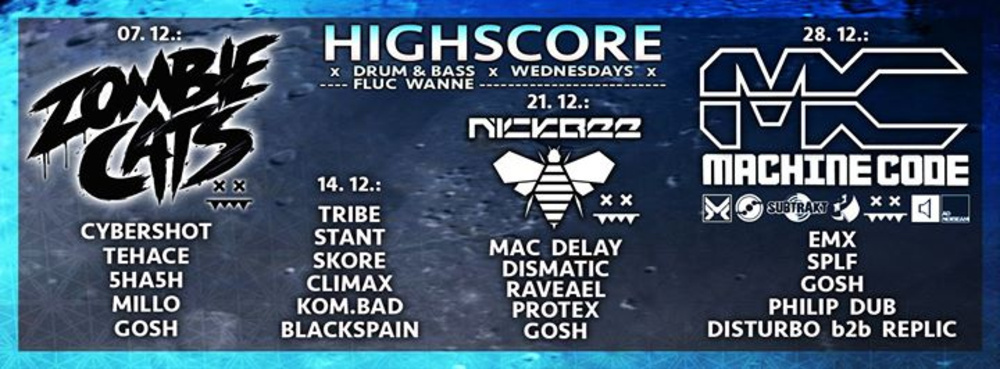 Highscore x D&B x Wednesdays am 11.01.2017 @ Fluc Wanne
