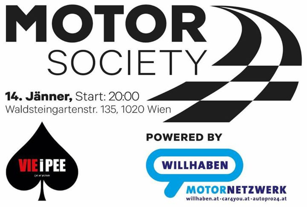 Motor Society am 14.01.2017 @ VIE I PEE