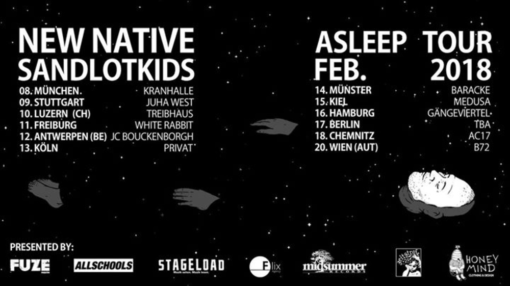 New Native, Sandlotkids - Asleep Tour - Wien am 20.02.2018 @ B72