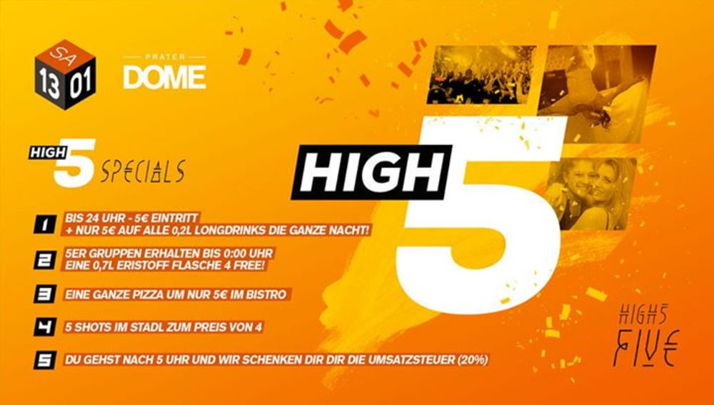 High 5 am 13.01.2018 @ Praterdome