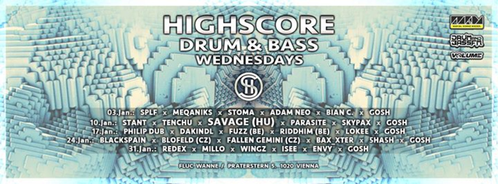 Highscore x Drum&Bass am 14.02.2018 @ Fluc Wanne