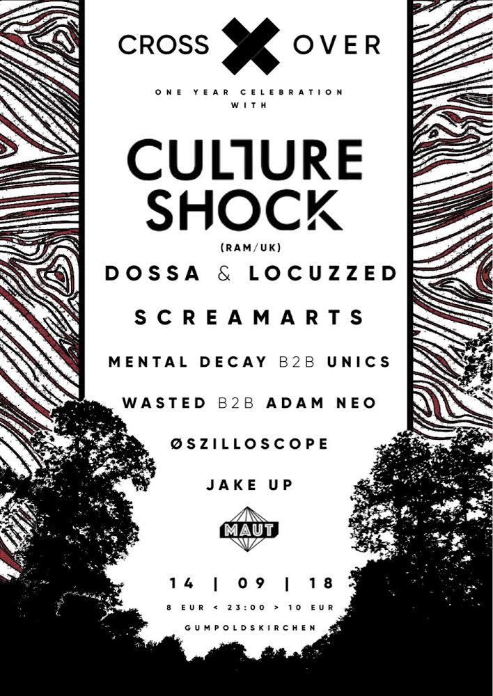 Crossover pres. Culture Shock (UK) am 14.09.2018 @ Maut Gumpoldskirchen