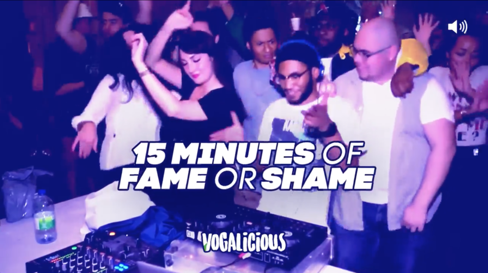 Vogalicious x 15 minutes of fame or shame am 08.11.2018 @ Volksgarten