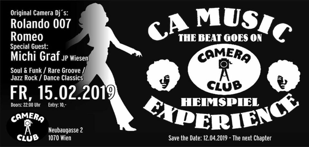 "CA Music Experience "" Heimspiel -The Beat Goes On"" am 15.02.2019 @ Camera Club"