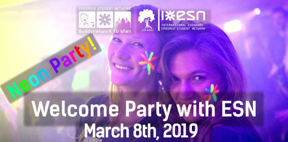 Welcome Party with ESN am 08.03.2019 @ The Loft