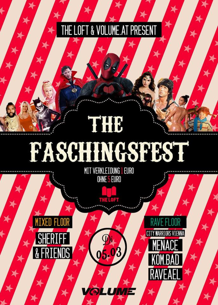 The Faschingsfest 2019 am 05.03.2019 @ The Loft