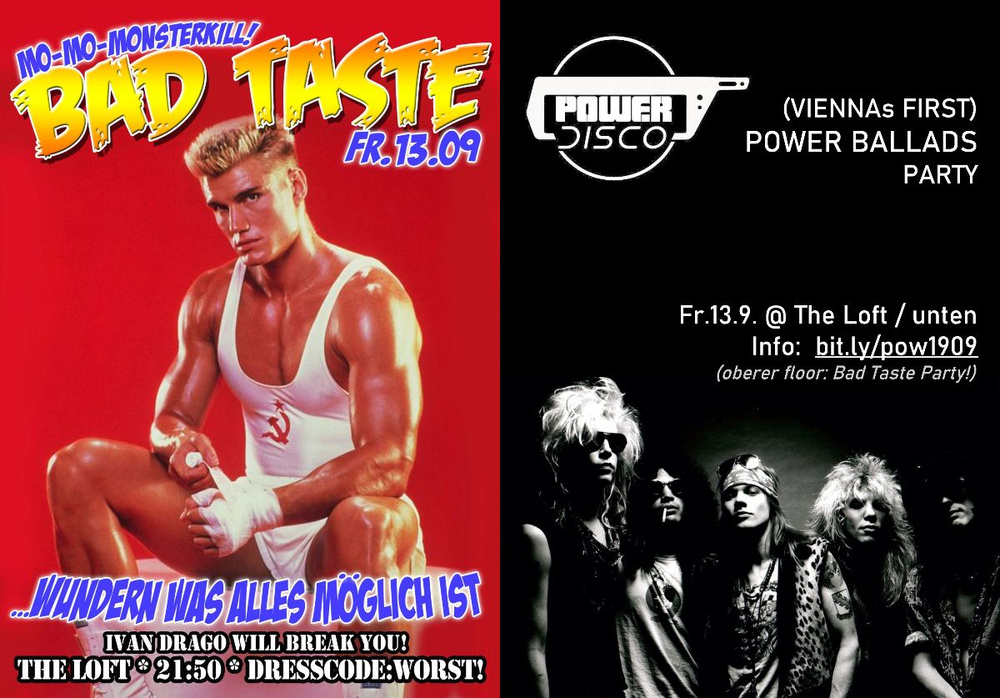 ​Bad Taste Party ϟ POWER DISCO am 13.09.2019 @ The Loft